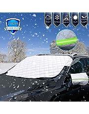Ezfull Protector para Parabrisas, Protector de Parabrisas Magnético Cubierta de Parabrisas para Coche Protege de Rayos UV, Sol, Lluvia, Nieve, Funda Plegable Parabrisa Delantero Universal, 183x147cm