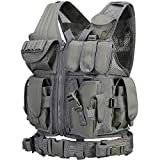 GZ XINXING S - 4XL Law Enforcement Tactical Airsoft Paintball Vest (Grey)