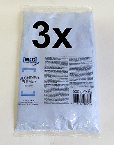 3er Set: M:C Refill - staubfreies Blondierpulver 500 Gramm