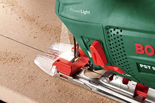 Bosch DIY Stichsäge PST 900 PEL, 1 Sägeblatt T 144 D, Spanreißschutz, CutControl, Transparenter Abdeckschutz, Sägeblattdepot, Koffer (620 W, Schnittiefe 90 mm Holz, 8 mm Stahl) - 4