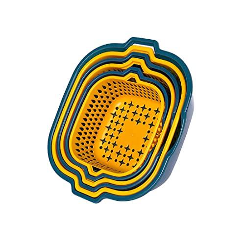 Jiangchenxi Accesorio de cocina con filtro de plástico, colador de verduras, cesta de malla colador, utensilios de cocina de calidad alimentaria, colador de granos, colador para limpieza (3 unidades)
