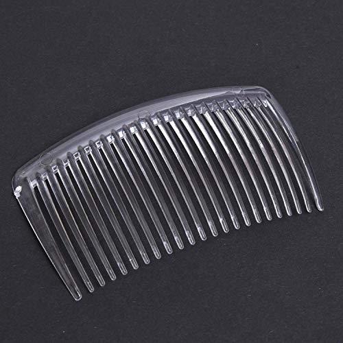 5pcs / set peigne à la main 29 dents en plastique chapeaux accessoires de cheveux femmes clip de bricolage-UNE_1 pc transparent