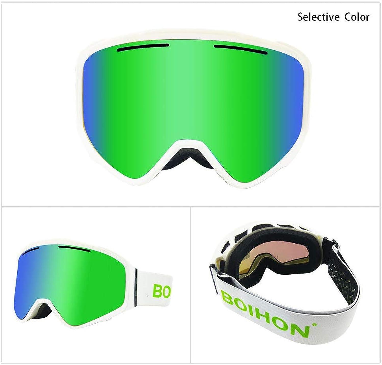 Snow Goggles Double AntiFog Ski Goggles Outdoor Ski Goggles Cylindrical Lens Detachable Magnet Snowledge Ski Goggles
