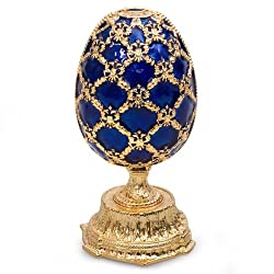 Crystal Faberge-Style Double Egg