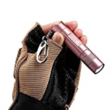 WUBEN Mini Pocket Rechargeable Led Flashlight with Battery and Keychain - Rose Pink