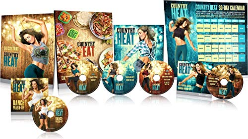 netsdoctor Conutry Heat Dance Workout DVD- 5 DVD Exercise Fitness Video for Beginners or Women to Help Lose Weight and Shape Perfect Body