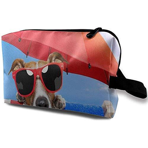 Voyage Cosmetic Bag Portable Sac À Main Cool Puppy Trousse De Toilette Petit Maquillage Sacs Cas Organisateur
