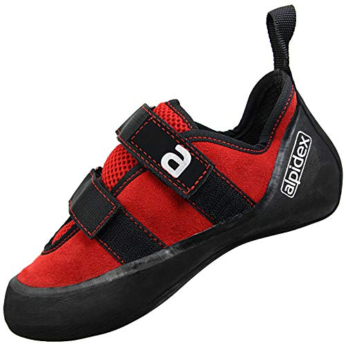 ALPIDEX Climbing Shoes Leather for Men and Women with Hook-and-Loop Fastener,...