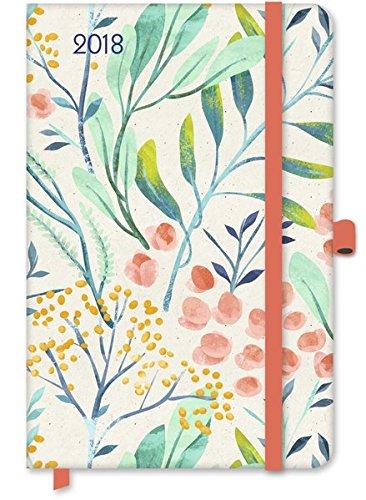 Floral 2018 - Greenline, Notizkalender, Taschenkalender, Buchkalender - 10 x 15 cm