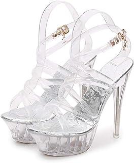 Transparent Women's High-Heeled Sandals