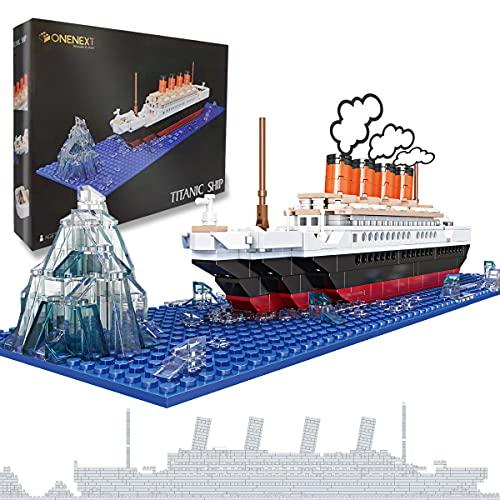 OneNext RMS Titanic Model Building Block Set 548pcs Giocattoli educativi Fai da Te compatibili al 100% Regalo di Puzzle 3D per Adulti e Bambini