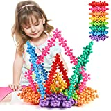 TOMYOU 200 Pieces Building Blocks Kids STEM Toys Educational Building Toys Discs Sets Interlocking Solid Plastic for Preschool Kids Boys and Girls Aged 3+, Safe Material Creativity Kids Toys