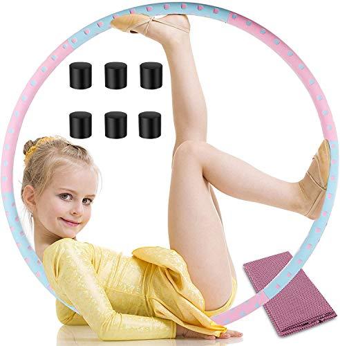 Takemirth Hullahub - Aro de pérdida de peso, con espuma NBR, para adultos, principiantes, avanzados, con toalla deportiva