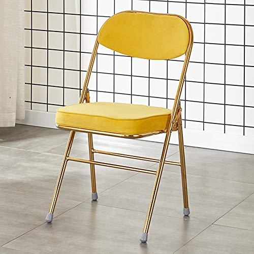 Klappbarer Esszimmerstuhl Retro Titan Klappstuhl Home Chair Office Konferenz Klappstuhl Schlafzimmer Küche Klappstuhl-84 × 38 × 46cm