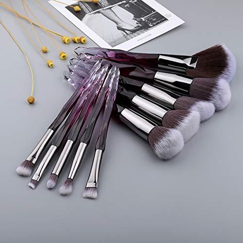 Berrd 10 Stück Kristall Make-up Pinsel Set flüssige Grundierung Puder Grundierung Bürste...