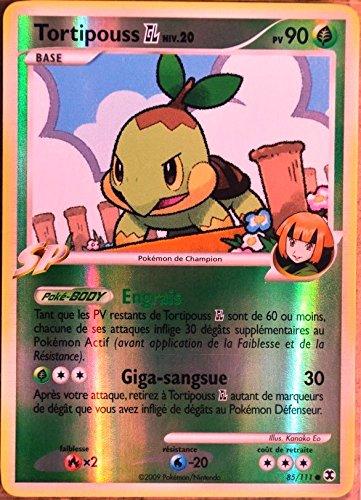 carte Pokémon 85/111 Tortipouss 90 PV Platine Rivaux Émergeants NEUF FR