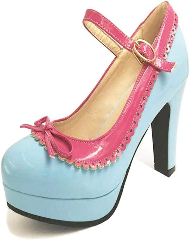 Women Hight Heels Lolita shoes Vintage Sweet Bows Platform Buckle Sandals Fashion Gril Daily Date Pumps