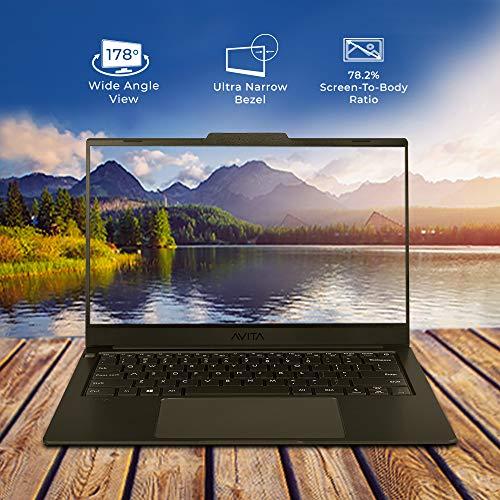 Avita LIBER V NS14A8INF542-MB Thin and Light 14 inch (35.56cm) Laptop( Intel UHD Graphics 620/ 8GB/256GB SSD /Win 10 Home/ Backlit Keyboard/ Fingerprint Sensor/ MSO 365) 1.28kg,Matt Black