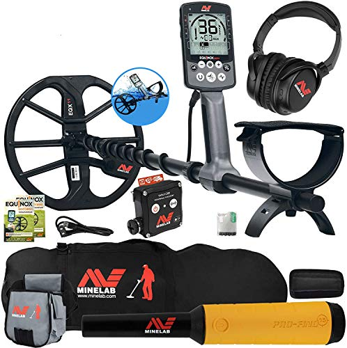 Minelab Equinox 800 Metal Detector w/Pro Find 15, Carry Bag, Finds Pouch