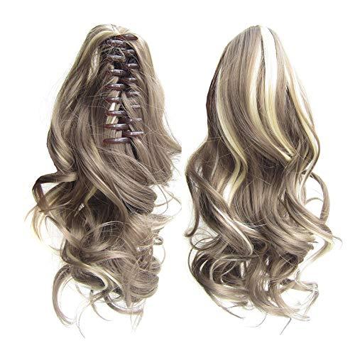 Beashine Queue De Cheval Cheveux Bouclés,Extensions De Cheveux Bouclés Naturels Bouclés Droits,Les Petites Boucles De Queue De Cheval à Pince Ondulée sont Naturellement pour Les Femmes Filles(9AH613)