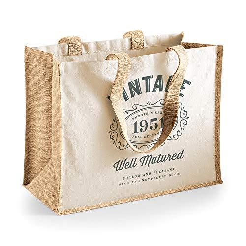 70th Birthday Keepsake Funny Gift for Women Novelty Ladies Female Heavyweight Tote Shopping Bag 70 Present Idea