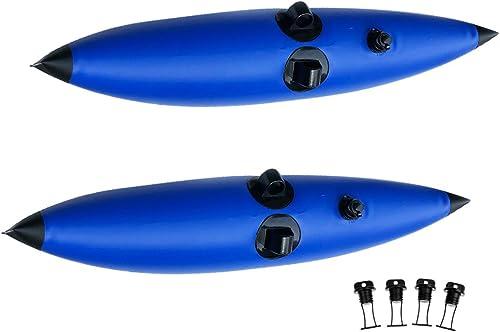 D DOLITY 2pcs Stabilisateurs Flotteur Outrigger en PVC avec 4pcs Bouchon Vidange pour Kayaks Canoes Bateaux Pêches