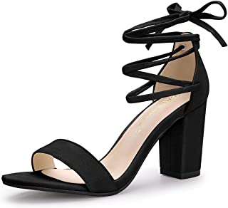 Details about  /Sexy Women/'s Pointy Toe Stilettos Slip On Wrap Lace Ups High Heels Shoes 34-48