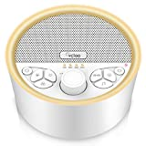 White Noise Sound Machine for Sleeping with 29 Relaxing High Fidelity Soothing Sound & 7 Color Night Light, Volume Control Portable Sleep Therapy with Auto-Off Timer & Memory Feature for Office, Baby