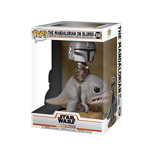 Funko Pop Mandalorian montado en Blurg (Star Wars The Mandalorian 358) Funko Pop Star Wars