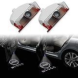 ZFDM LED Auto Tür Licht für Mercedes AMG Auto Logo Laser Ghost Projektor Welcome Lampe Fit Benz Klasse GLK X204 250 300 350 W245 W168 (Color : 2 Pieces, Emitting Color : for Mercedes Logo)