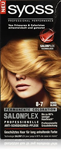 Syoss Haarfarbe, 8-7 Honigblond, 3er Pack (3 x 115 ml)