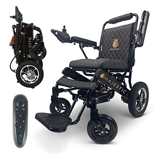 """2020 Limited Edition Remote Control Foldable Electric Wheelchair Mobility Aid Lightweight Motorized Power Wheelchairs (17.5"""" Wide)"""