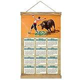 Museo Taurino de España Córdoba Imprimir Póster Calendario de Pared 2021 12 Meses Pintura decorativa Cuadros Colgantes Lienzo Madera 20.4 'x 13.1' GL-Spain-5263