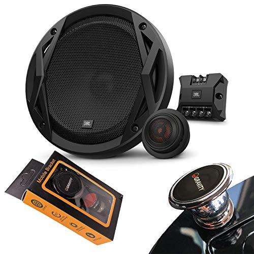 "JBL Club 6500C 360W Peak (120W RMS) 6-1/2"" Club Series 2-Way Component Car Speakers with Gravity Magnet Phone Holder Bundle"