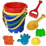 Plástico Baño De La Playa De Juego De Juego De Cubo De Excavación Juego Del Agua Herramientas 7pcs / Set Color Azar