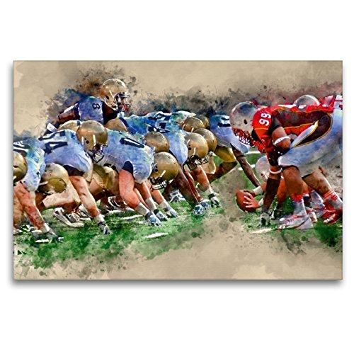 CALVENDO Premium Textil-Leinwand 120 x 80 cm Quer-Format American Football, Leinwanddruck von Peter Roder