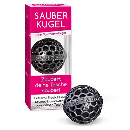 Sauberkugel - Black Pearl - Die clevere Art der Reinigung von Taschen, Rucksäcken und Schulranzen – Die Lifestyle Innovation 2020 (schwarz 1)
