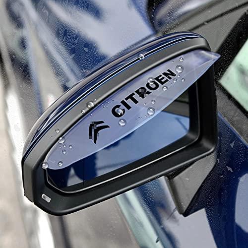 Cubierta de espejo retrovisor lateral de coche, visera de lluvia, ceja para Citroen C1 C2 C3 C4 C5 C6 C8,visera solar para proteger contra la lluvia, accesorios de estilo de coche