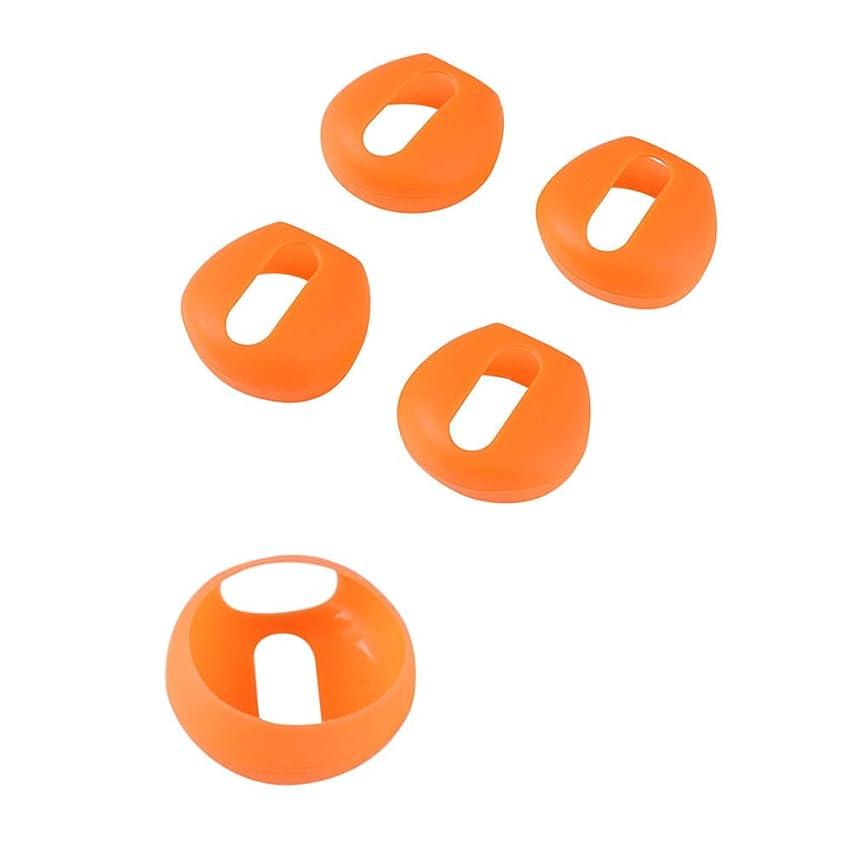 考古学者垂直ごみDeylaying 1セット イヤホンキャップ for Apple Airpods 滑り止めイヤホンキャップ オレンジ