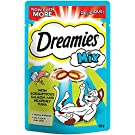 Dreamies Cat Treats, Tasty Snacks with Scrumptious Salmon and Heavenly Tuna Flavour, 8 Pouches of 60 g