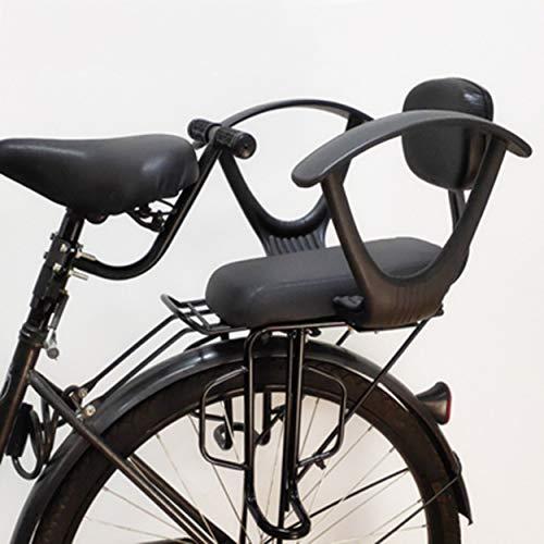 ZCVB Seggiolino Bicicletta Posteriore Portapacchi per MTB Baby Seggiolini di Sicurezza con Braccioli Pedali Cintura di Sicurezza Regolabile E Staccabile per Bambini di 2-10 Anni,A
