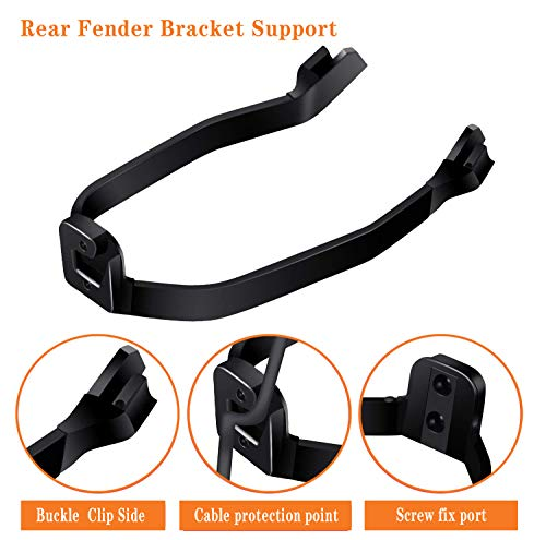 Rear Fender Bracket Mudguard Support, Waterproof Dashboard Protector Silicone Cover,3 Piece Rubber Vibration Damper for Xiaomi M365/M365 pro