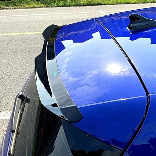 ABS Dachspoiler Flügel für NEUE OLD Golf 6/7/8 Schrägheck 2009-2021Auto Heckscheibe Bright Black Tail FIN Body Kit Zubehör,Schwarzglänzend