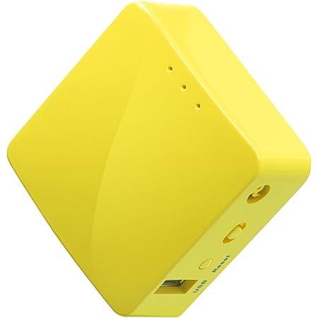 GL.iNet GL-MT300N-V2 (Mango) 無線LAN VPNトラベルルーター 中継器ブリッジ 11n/g/b 高性能300Mbps 128MB RAM コンパクト ホテル用 Openwrtインストール OpenVPN/WireGuardクライアントとサーバーインストール 日本語設定画面