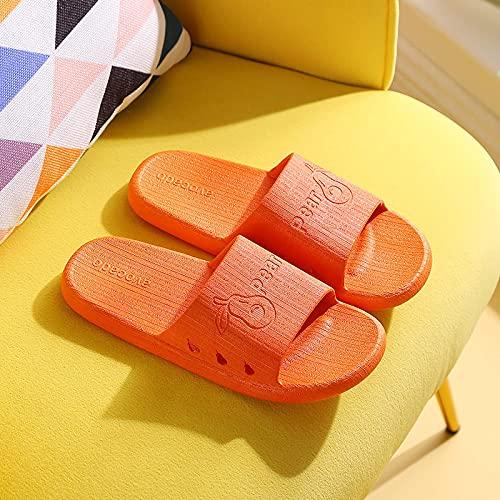 WENHUA Zapatillas de Playa Hombre Y Mujere, Zapatos de Playa Zapatillas de baño, Zapatillas de casa Palabra Drag para Hombre Mujer, Orange_36 / 37