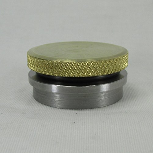 VENTED or NON-VENTED Motorcycle Polished BRASS Gas/Fuel Tank Cap - STEEL Stepped Bung - Harley Chopper Bobber Cafe Racer