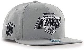 Los Angeles Kings NHL Vintage Gray Sure Shot 47 Brand Flatbill Snapback Hat