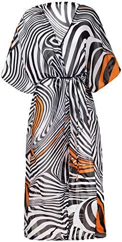 100% Katoen Dressing Gowns voor Vrouwen & Mannen, Lichtgewicht Zomer Kimono Badjassen, 100% Indiaas Katoen, Organisch Gegroeid, Ethisch Made, Handgedrukt. Past op UK 10-18
