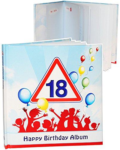 alles-meine.de GmbH Geburtstag -  18 Jahre - Happy Birthday  - Erinnerungsalbum / Fotoalbum - Gebunden zum Einkleben & Eintragen - Album & Erinnerungsbuch - Fotobuch / Photoalb..