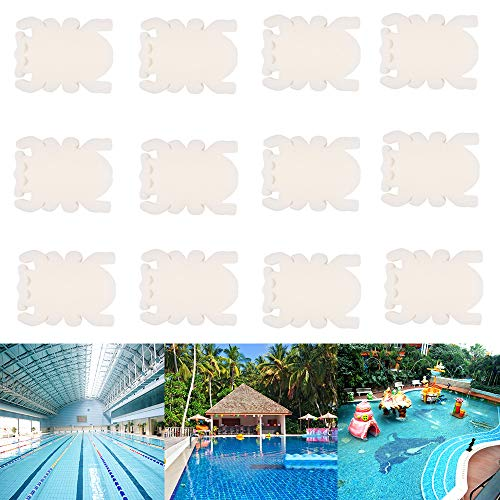Lifreer Pools Scum Sponge, 12-teiliger Whirlpool und Schwimmbadöl absorbierender Schwamm, wiederverwendbarer Scum Disc Cleaner, entfernt Öle und Fett